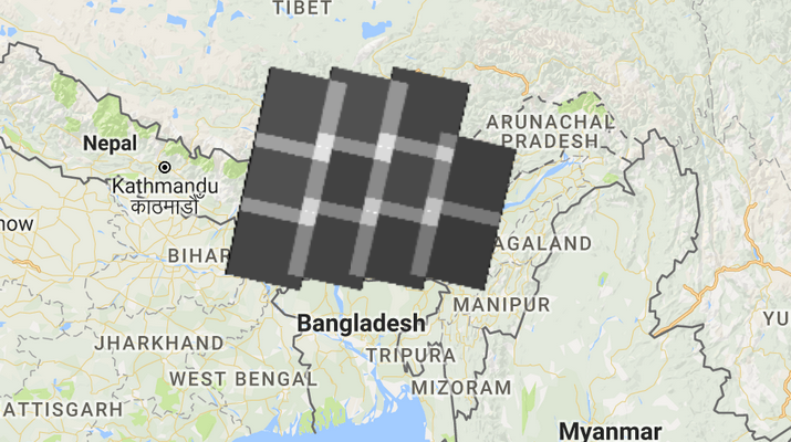 Number of Landsat images for an area