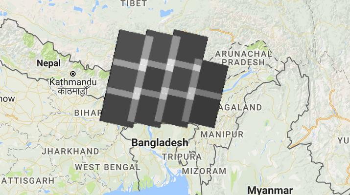 Number of Landsat images for anarea