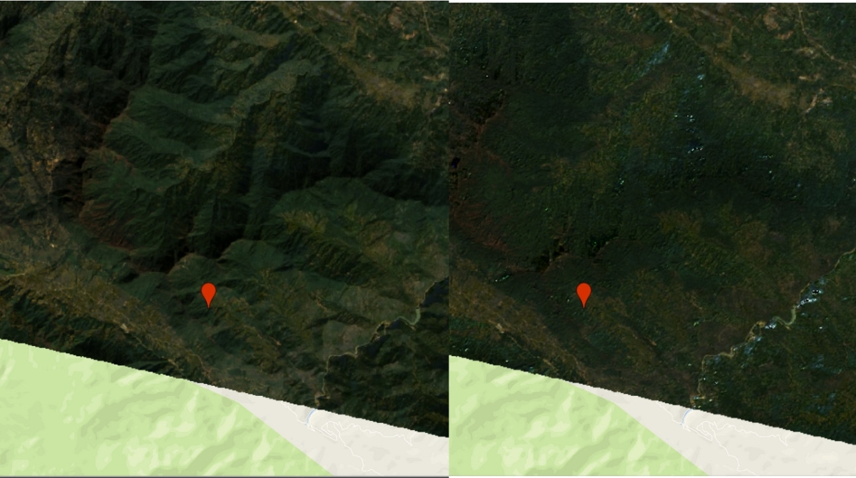 Topographic correction in GEE