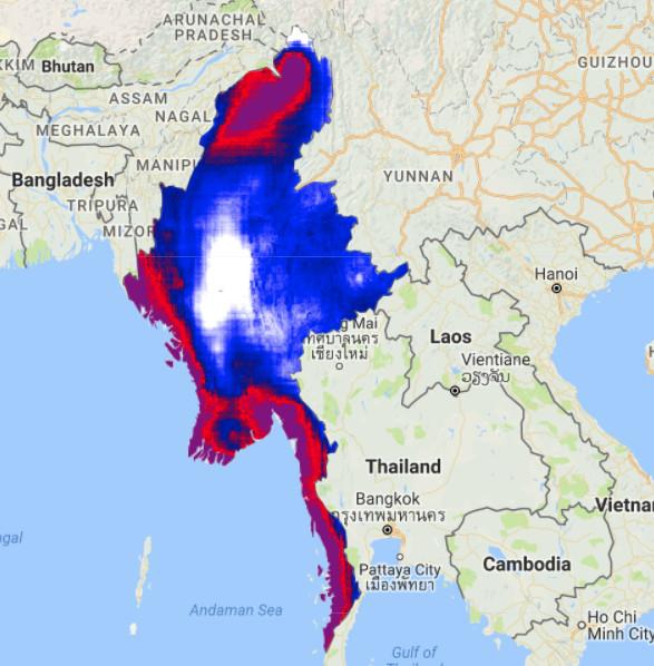 2017 rainfall Myanmar